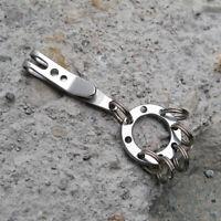 EDC Multi Tool Gear Money Clip Gürtelaufhänger Edelstahl Tasch Schlüsselanh R3V3