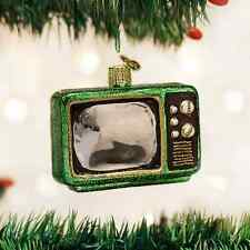 Retro Tube TV glass Ornament Old World Christmas NEW IN BOX Television Set