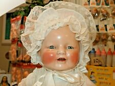 "1928 Horsman Baby Dimples 18"" Original Clothes Very High Color Well Made Doll ."