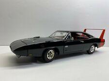 ERTL 1:18 Scale 1969 Dodge Daytona Black & Red Vintage Loose Clean No Reserve