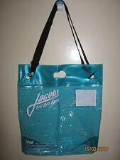 Marc Jacobs CLEAR Plastic Travel / Fun / Shopper Tote SHOULDER Bag  BLUE & BIG