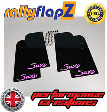 Guardabarros Rally CITROEN SAXO 96-03 Guardafangos x 4 Negro 4mm PVC Logo