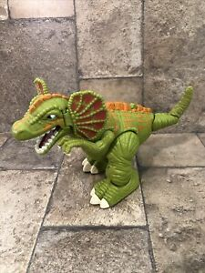 2006 Mattel Imaginext Surge Frilled Raptor Dinosaur Walking Roaring - WORKS!