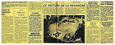 1969 : Document (Ref T 1068) : AUTO LA MATRA 630/650 24 H DU MANS (1/2 page)