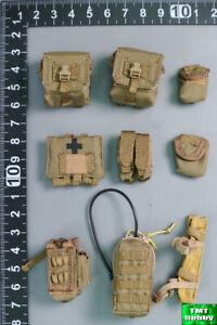 1:6 Scale DAM DMS015 PLA Navy Marine Gunner Ms Li - Tan Varies Pouches x 9