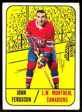 1967 68 TOPPS HOCKEY #69 JOHN FERGUSON VG-EX MONTREAL CANADIENS CARD