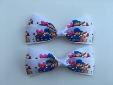Pocoyo Hair Bows with Alligator Clips