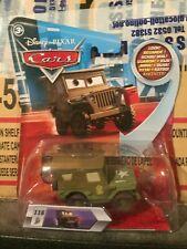 Disney Pixar Cars Pit Crew Member Sarge with Moving Eyes Mattel 1.55 BNIB