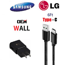 OEM Samsung Fast Wall Charger 6Ft Type-C Cable For Galaxy Note8 9 S8 S9 S10 Plus