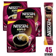 NESCAFE 2 in 1 Kopi-O, Sweetened Black Coffee, 45 sticks (BB 10/31/2020)