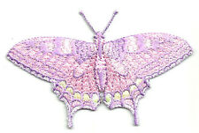 BUTTERFLY LIGHT PINK/LAVENDER/YELLOW IRON ON APPLIQUE