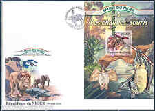 NIGER 2013 FAUNA OF AFRICA  BATS  SOUVENIR SHEET FIRST DAY COVER