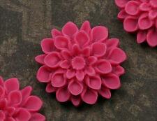 2x resin cabuchons flores para pegar 17mm rosa malva tm101