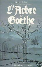 Livre l'arbre de Goethe Pierre Julitte book