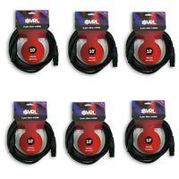 VRL 3 PIN 10' ft DMX PRO STAGE DJ LIGHTING DATA CABLE (6 pk)