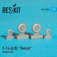 ResKit 72-0006 Wheels for Grumman F-14A / F-14B Tomcat resin wheels set 1/72