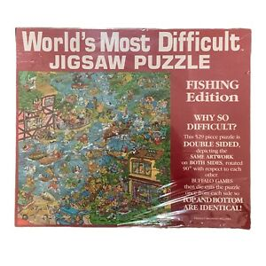 Brand New Vintage World's Most Difficult Jigsaw Puzzle Fishing Edition - 529 pc
