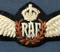 WW2 ROYAL AIR FORCE WOVEN PILOT QUALIFICATION *REPLICA* WINGS BADGE