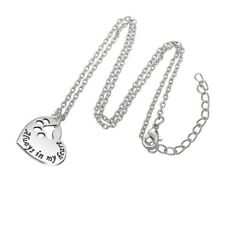 Womens Necklace Silver Pet Paw Dog Cat Animal Footprint Always In My Heart Love