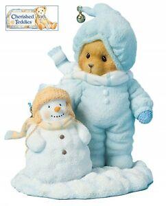 CHERISHED TEDDIES 2014 FIGURINE, ARLIS, SNOWMAN, WINTER, SNOW, 4040465, NIB
