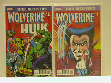 """HULK 181 AND WOLVERINE #1 """"TRUE BELIEVERS"""" VARIANTS - FREE SHIPPING"""