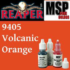 VOLCANIC ORANGE 9405 - MSP core 15ml 1/2oz paint pot peinture REAPER MINIATURE