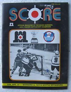 1979 Maine Mariners AHL Hockey Program (Nova Scotia Voyageurs) poor condition