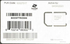 NEW EXPANDED NETWORK TN SIM Card for BOOST MOBILE - ALL iPHONES COMPATIBLE