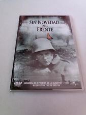 """DVD """"SIN NOVEDAD EN EL FRENTE"""" COMO NUEVO LEWIS MILESTONE LEW AYRES LOUIS WOLHEI"""