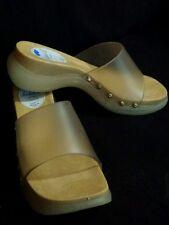 MICHEL J. -Made in Italy- sandali in pvc effetto legno n° disp. 35,5 / 36,5