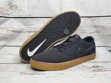 NIKE SB Check Solar Canvas Men's 13 Skateboard Shoes Black / Gum Sole