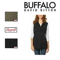 SALE! BUFFALO David Bitton Women's Lightweight Button Front Vest - VARIETY E12
