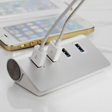 4 Ports USB 3.0 Hub Portable Aluminum Hub New for Mac iMac Mac book pro air