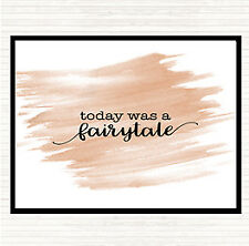 Watercolour Today Fairytail Quote Mouse Mat Pad