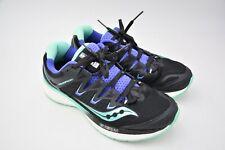 Saucony Mens Triumph ISO 4 Running Shoe Black Aqua Violet Size US 9 EU 40.5 Used