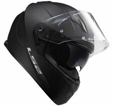 NEW LS2 FF320 STREAM MATT BLACK WITH SUN VISOR, SIZE MEDIUM, RRP £129.99