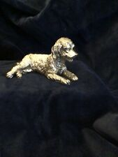 More details for labradoodle  dog 925 sterling silver sculpture / figure/gifted
