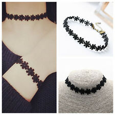Elegant Fashion Ladies Choker Black Flower Stretch Necklace Jewelry Gift Charms