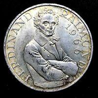 1966 AUSTRIA Drama Actor Ferdinand Raimund Silver 25 Schilling KM2899
