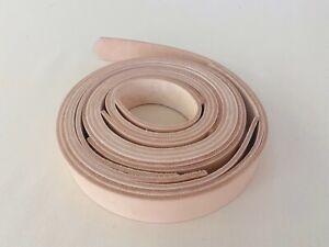 4mm veg tan leather belt strip strap 40mm width - B grade - 5pcs