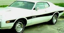 "73-74 DODGE CHARGER MID BODY STRIPES DECAL KIT MOPAR 1973 1974 ""MATTE BLACK"""