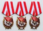 SET 3 pcs USSR ORDER OF THE RED BANNER 1th, 2nd and 3th WITH RIBBON XDM0081-83