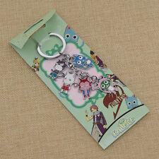 Cartoon Fairy Tail Pendant Metal Keychain Alloy Keyring Unisex Japan Anime Gift