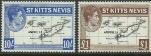 St Kitts 1938 sg78-79 - MLH - Definitives - will combine post 1.75