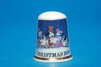 Christmas 2019 From Mickey Exclusive China Thimble +Dome. B/99