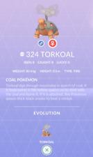 Torkoal #324 Pokemon Go ✔ Regional ✔ 100% Quick & Safe