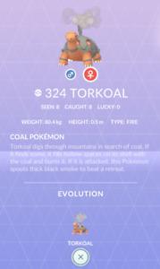 Torkoal #324 Pokemon Go ✔ Regional ✔ Quick