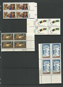United States 1972 A selection Of Blocks Of 4 With Plate Numbers Mounted Mint