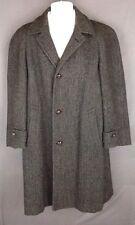 Vintage HARRIS TWEED Handwoven Men's 100% Scottish Wool TRENCH Jacket