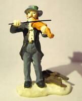 Grandeur Noel Victorian Village Violin Player Fiddler Man Replacement  2000